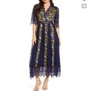 Foxiedox NWT Josefine Blue Lace Midi Dress✨